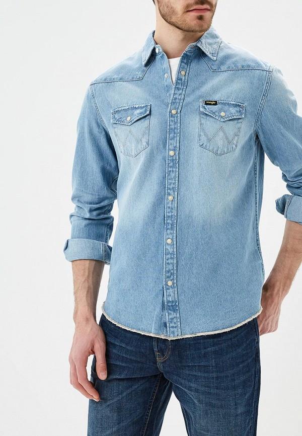 Рубашка джинсовая Wrangler Wrangler WR224EMAPFG4 рубашка wrangler wrangler wr224emapff2