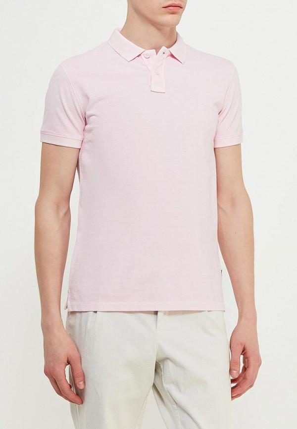 Поло  розовый цвета