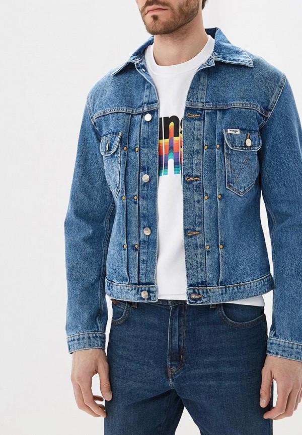 Купить Куртка джинсовая Wrangler, WR224EMBOWB3, синий, Осень-зима 2018/2019