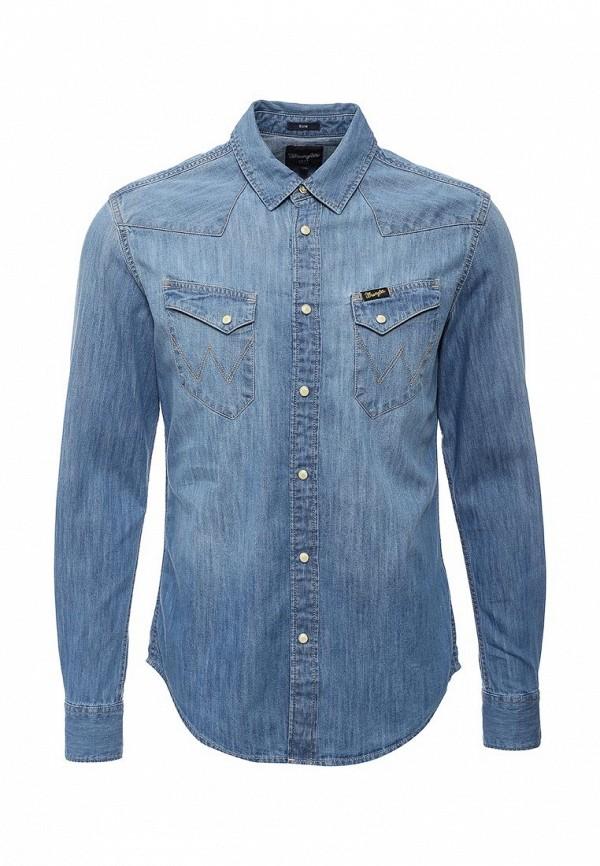 Рубашка джинсовая Wrangler Wrangler WR224EMHZH77 closed джинсовая рубашка