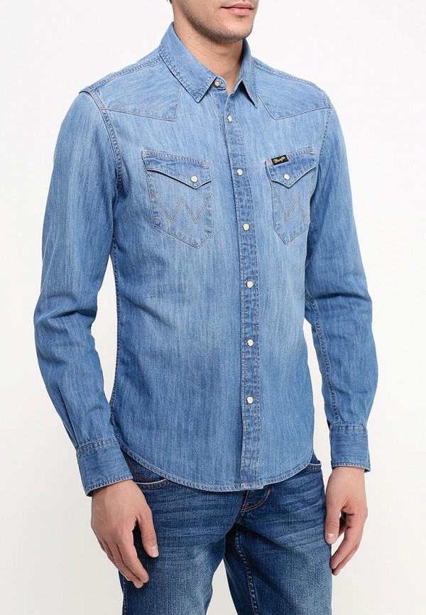 Рубашка джинсовая Wrangler Wrangler WR224EMHZH77 wrangler w7a60en02