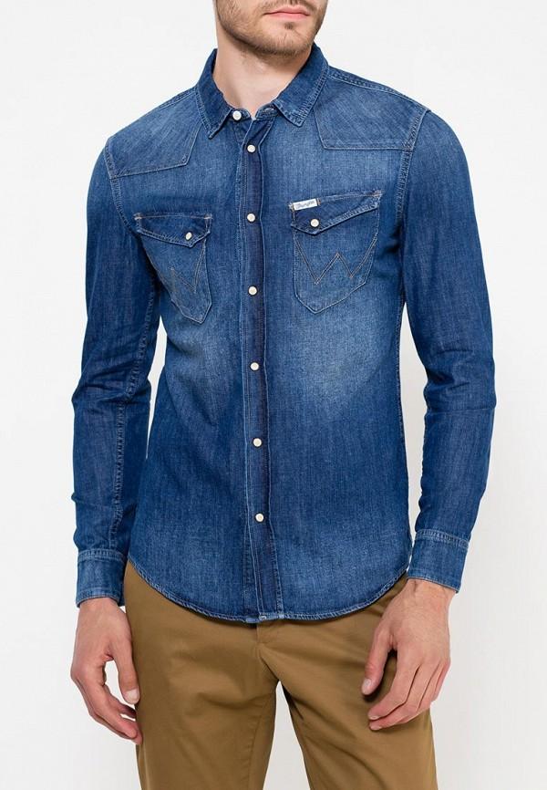 Рубашка джинсовая Wrangler Wrangler WR224EMVHF26 рубашка wrangler wrangler wr224emapff2