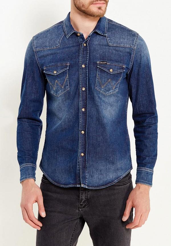 Рубашка джинсовая Wrangler Wrangler WR224EMVHF27 рубашка wrangler wrangler wr224emapff2