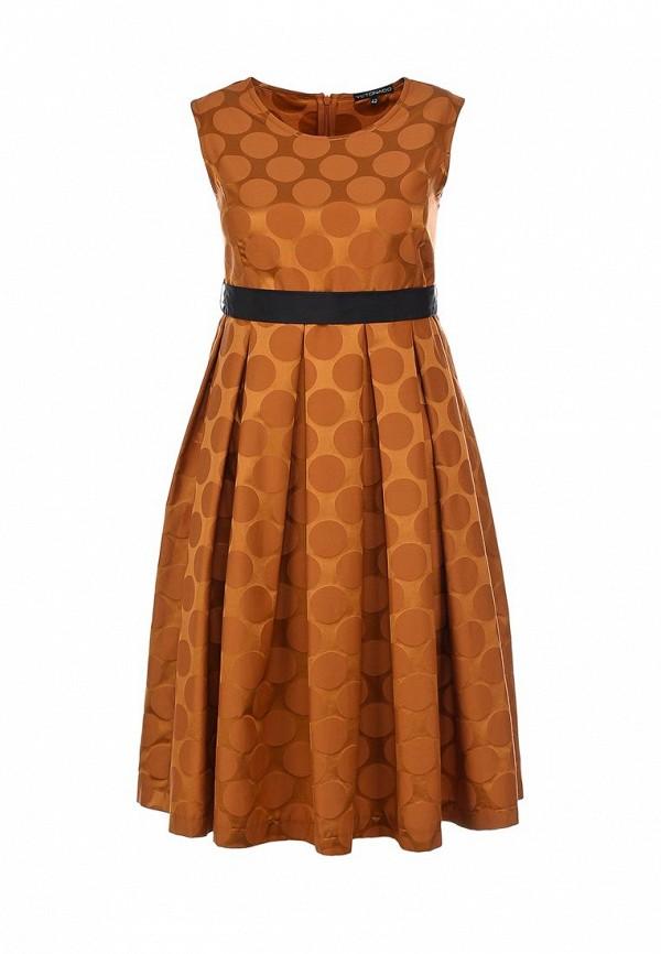 Платье Yetonado. Цвет: оранжевый