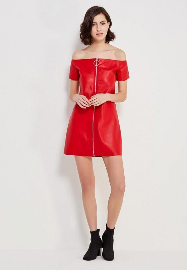 Фото 2 - Платье You&You красного цвета