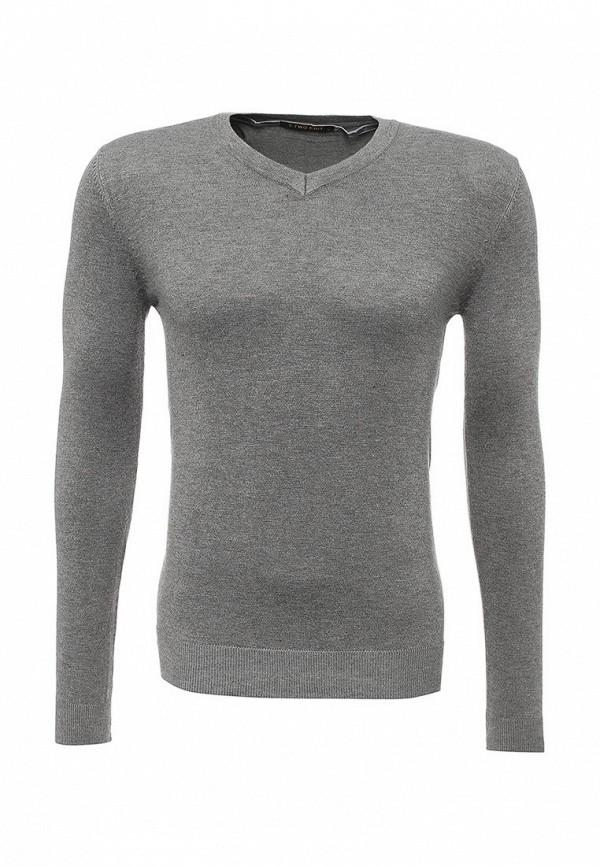 Фото - мужской пуловер Y.Two серого цвета
