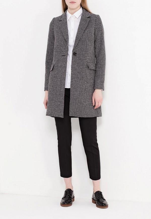 Фото 2 - женское пальто или плащ Zarina серого цвета