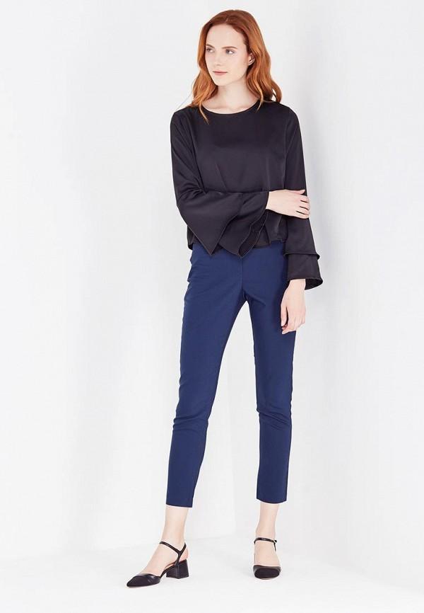 Фото 2 - женские брюки Zarina синего цвета