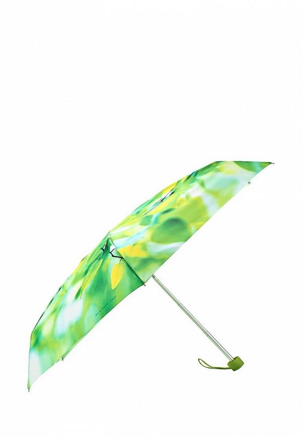 Женский зеленый осенний складной зонт