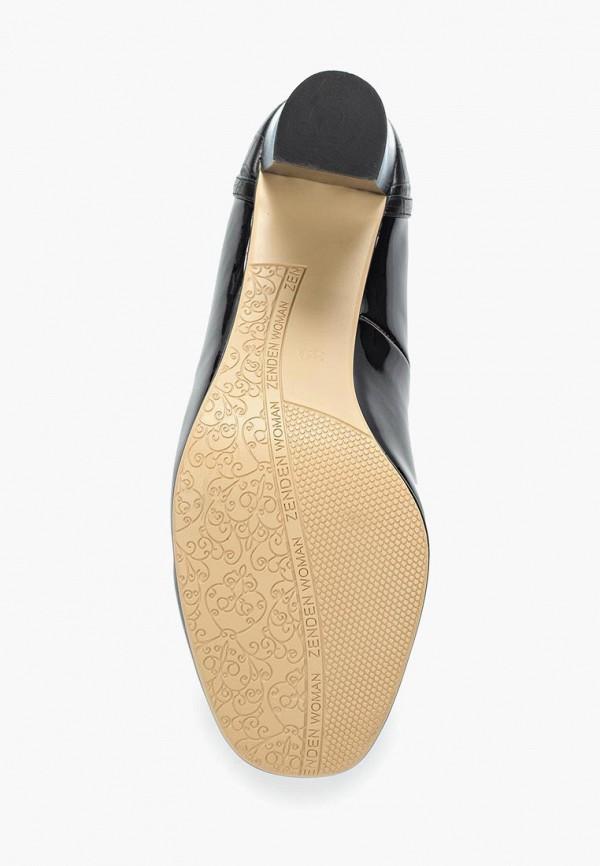 Фото 8 - женские туфли Zenden Woman черного цвета