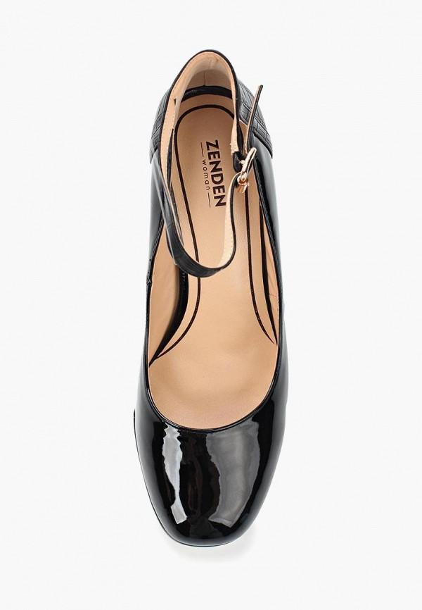 Фото 9 - женские туфли Zenden Woman черного цвета