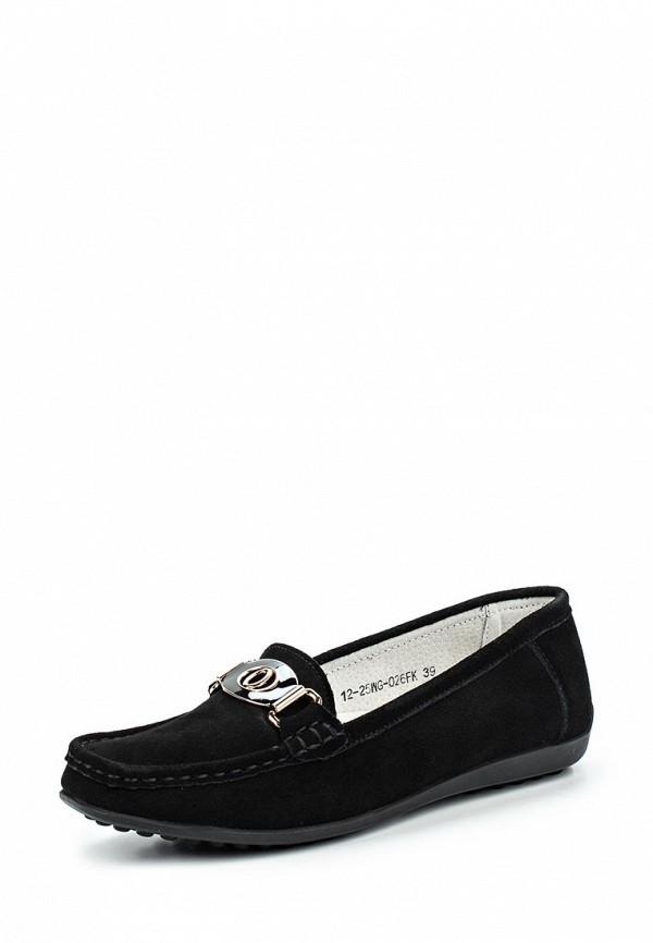 Фото - женские мокасины Zenden Comfort черного цвета