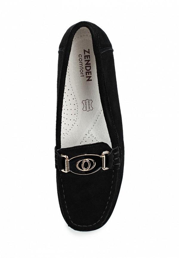 Фото 4 - женские мокасины Zenden Comfort черного цвета