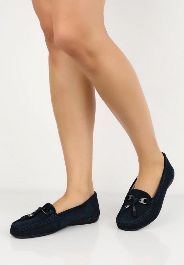 Фото 5 - женские мокасины Zenden Comfort синего цвета