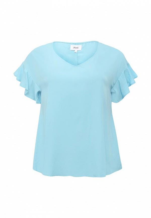 Фото - женскую блузку Zizzi голубого цвета