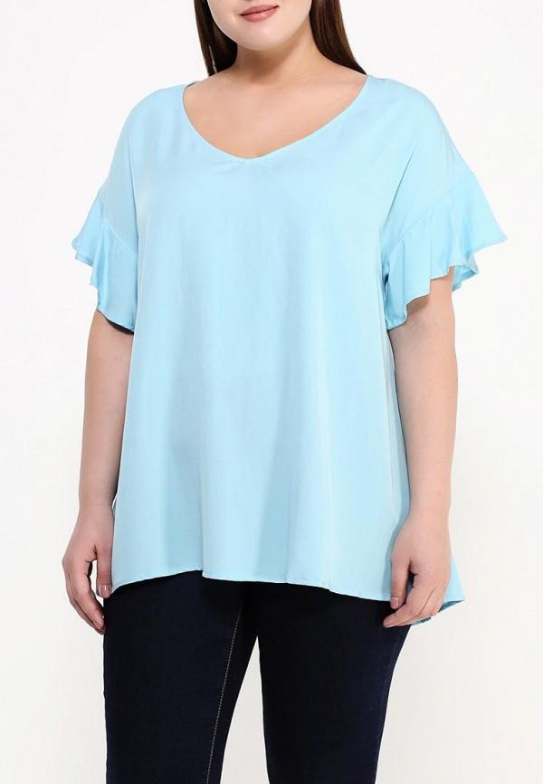 Фото 3 - женскую блузку Zizzi голубого цвета