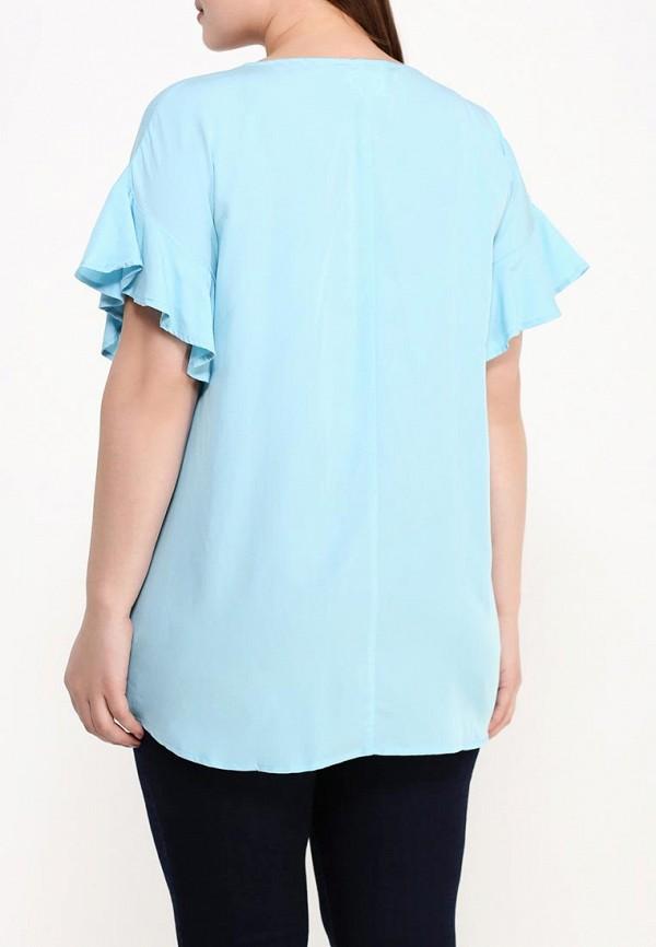 Фото 4 - женскую блузку Zizzi голубого цвета