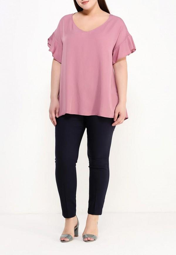 Фото 2 - женскую блузку Zizzi розового цвета