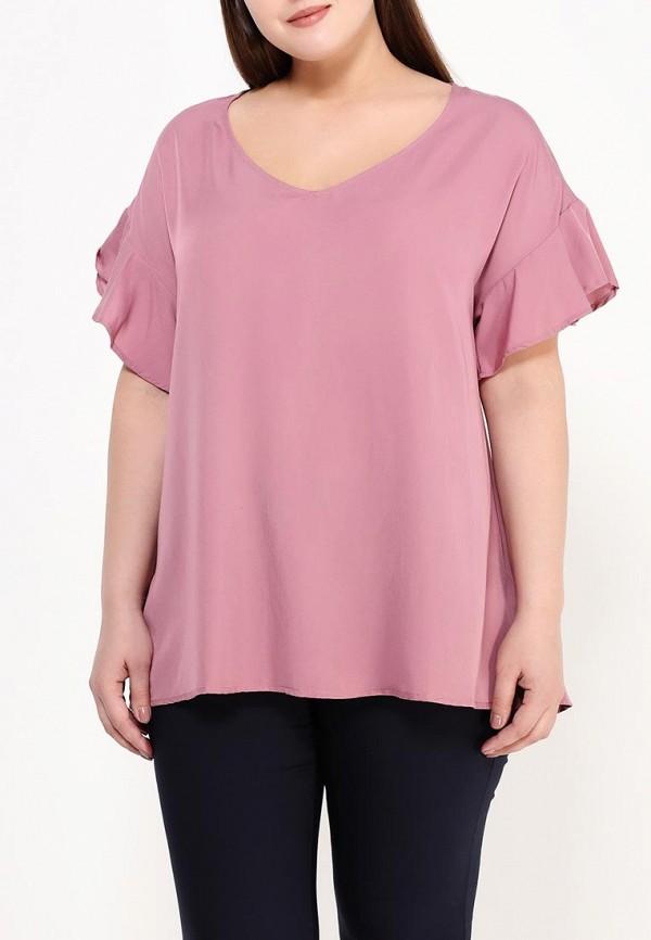 Фото 3 - женскую блузку Zizzi розового цвета