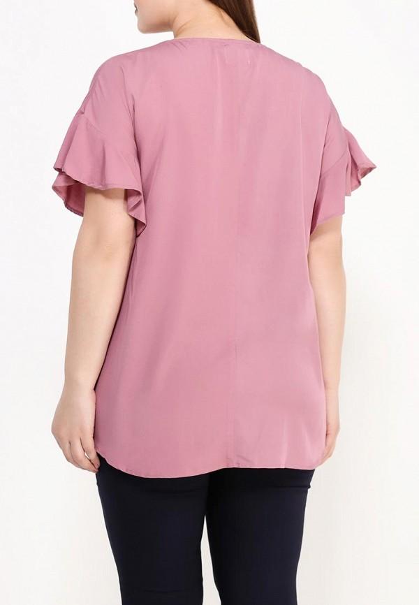 Фото 4 - женскую блузку Zizzi розового цвета