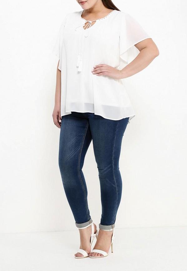 Фото 2 - женскую блузку Zizzi белого цвета