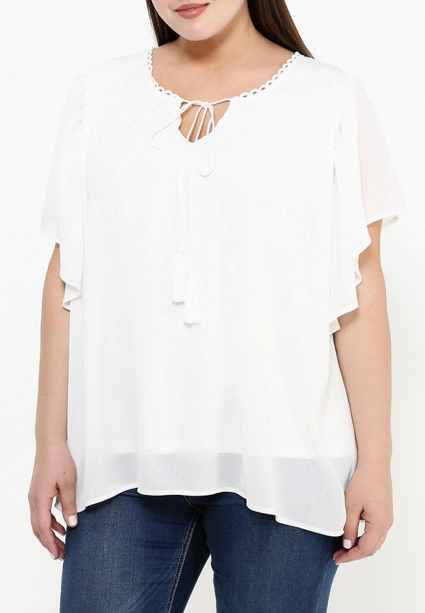 Фото 3 - женскую блузку Zizzi белого цвета