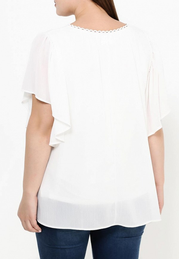 Фото 4 - женскую блузку Zizzi белого цвета