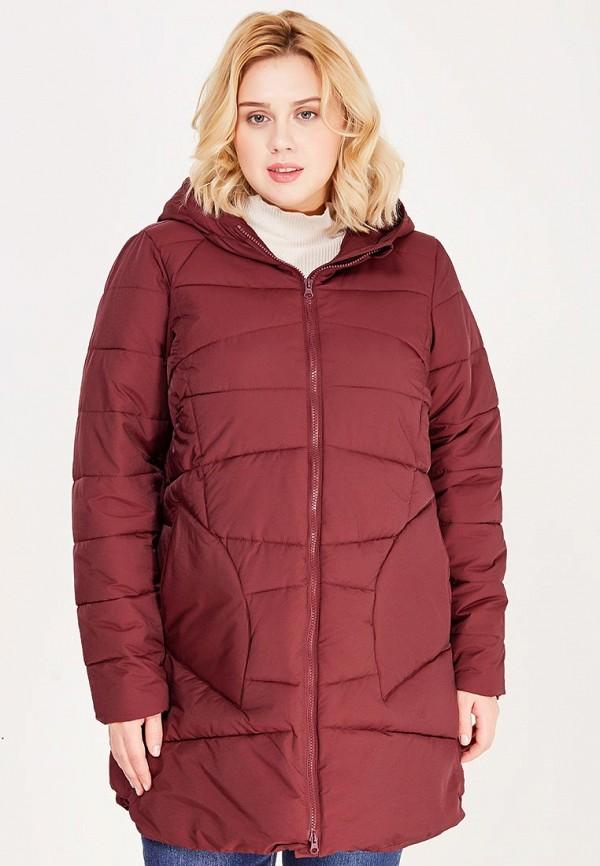 Куртка утепленная Zizzi. Цвет: бордовый