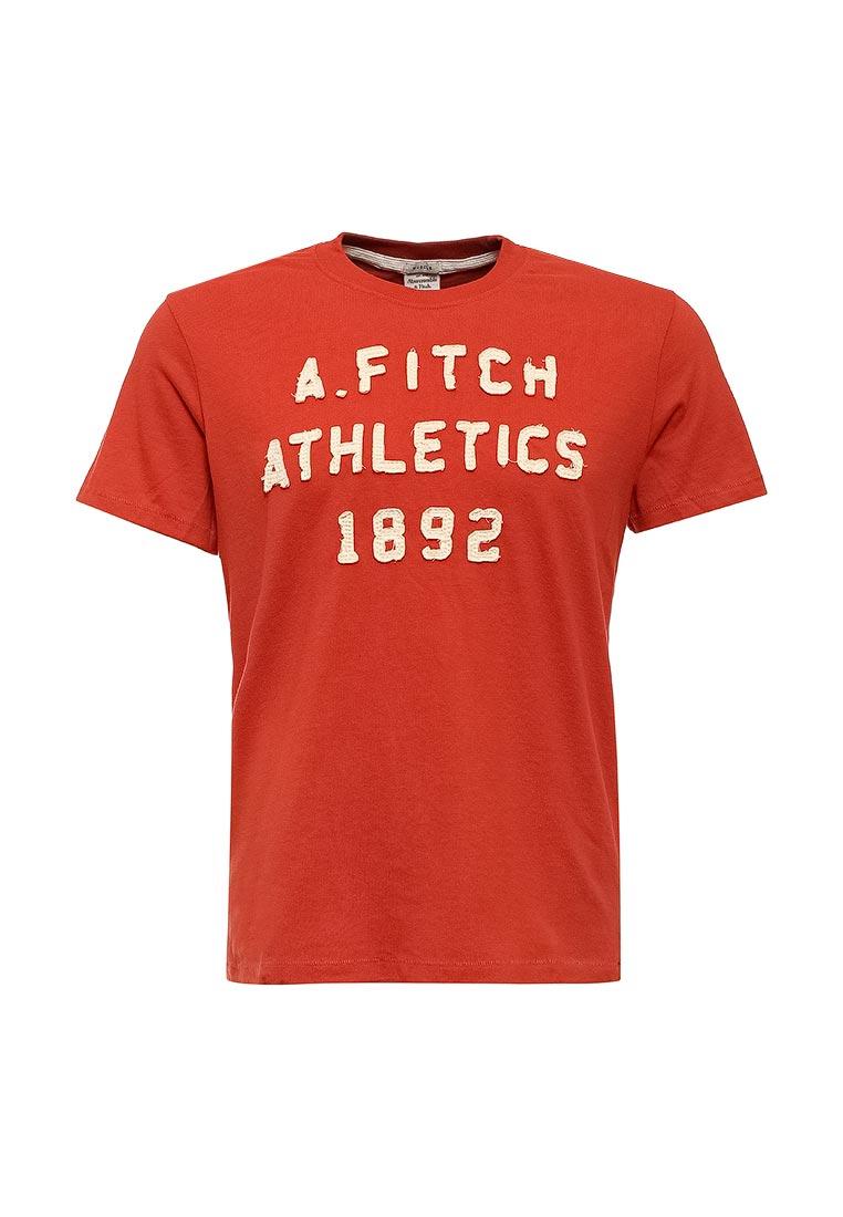 Футболка с надписями Abercrombie & Fitch 123-238-1905-070