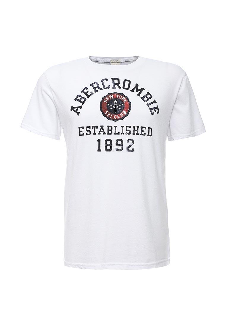 Футболка с надписями Abercrombie & Fitch 123-238-2010-001