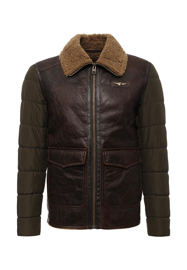 Кожаная куртка Aeronautica Militare AZ5531959