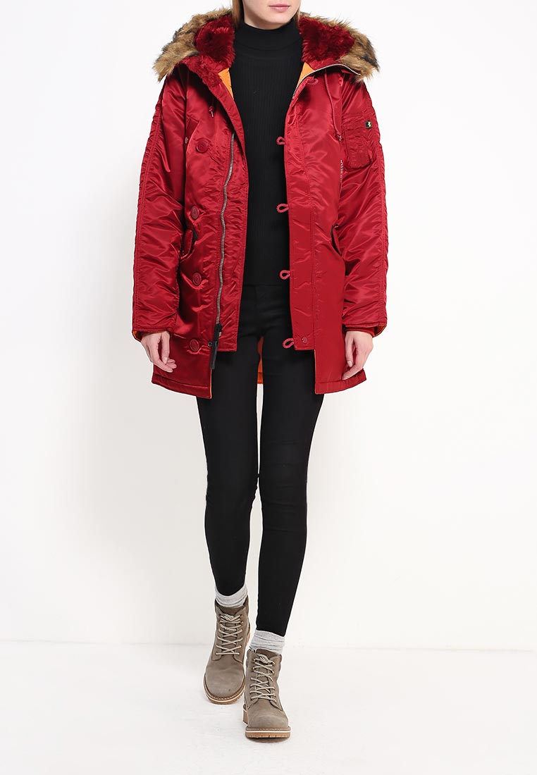 Утепленная куртка Alpha Industries (Альфа Индастриз) 199.WJN44502C1..COMMANDER RED: изображение 2