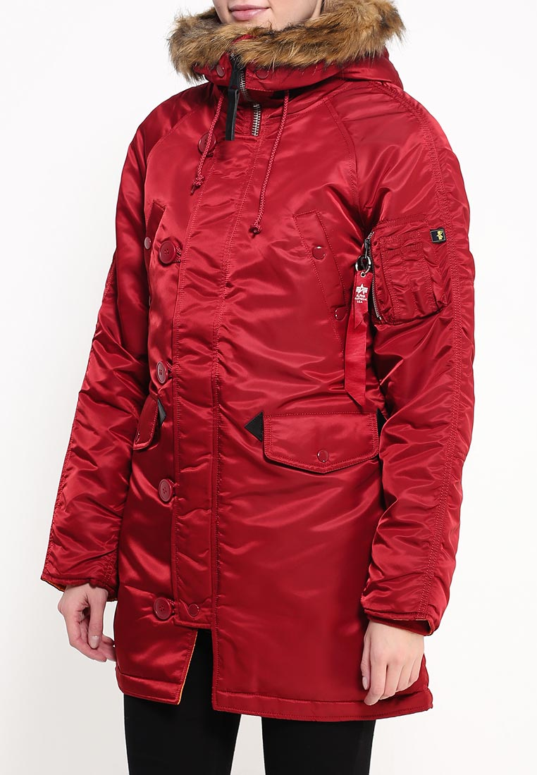 Утепленная куртка Alpha Industries (Альфа Индастриз) 199.WJN44502C1..COMMANDER RED: изображение 3