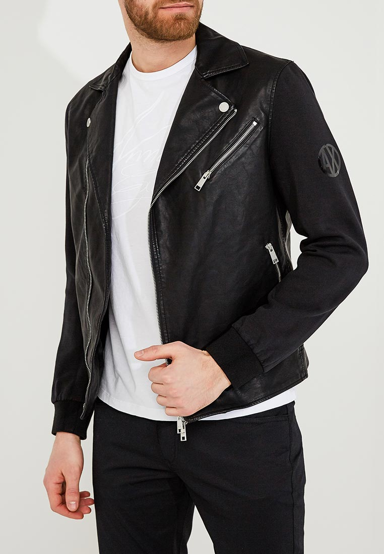 Кожаная куртка Armani Exchange 3ZZB03 ZNCVZ