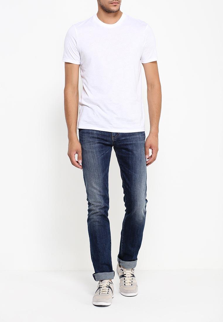 Футболка с надписями Armani Jeans (Армани Джинс) 6x6t41 6JPFZ: изображение 2