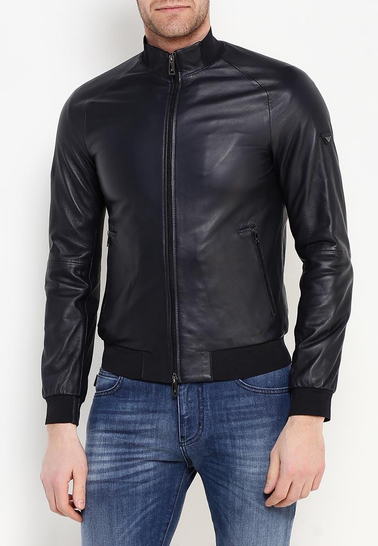 Кожаная куртка armani