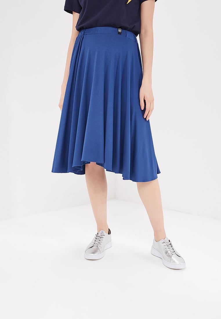 Широкая юбка BeWear B037-blue