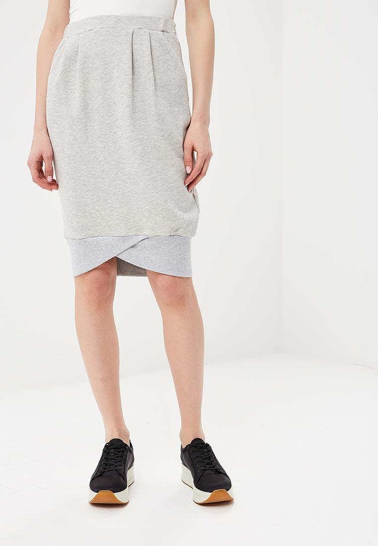 Прямая юбка BeWear B049-light grey