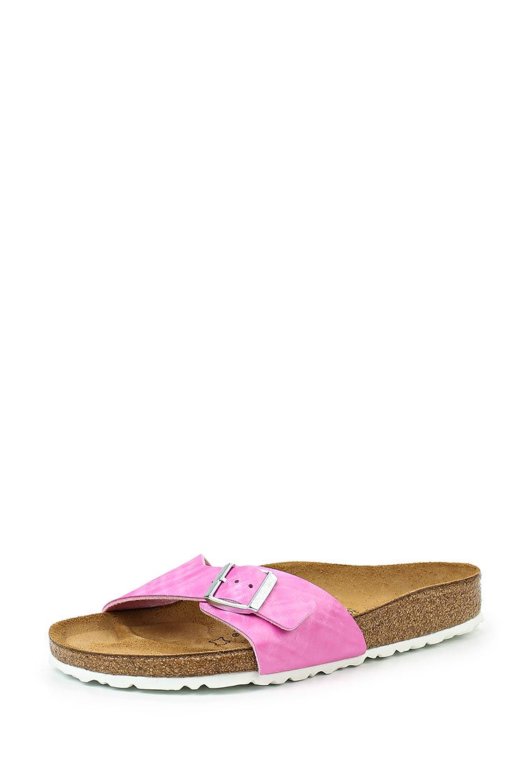 Женские сабо Birkenstock Madrid BF Shiny Check Rose