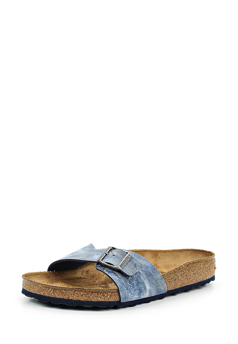 Женские сабо Birkenstock Madrid BF Used Jeans Blue