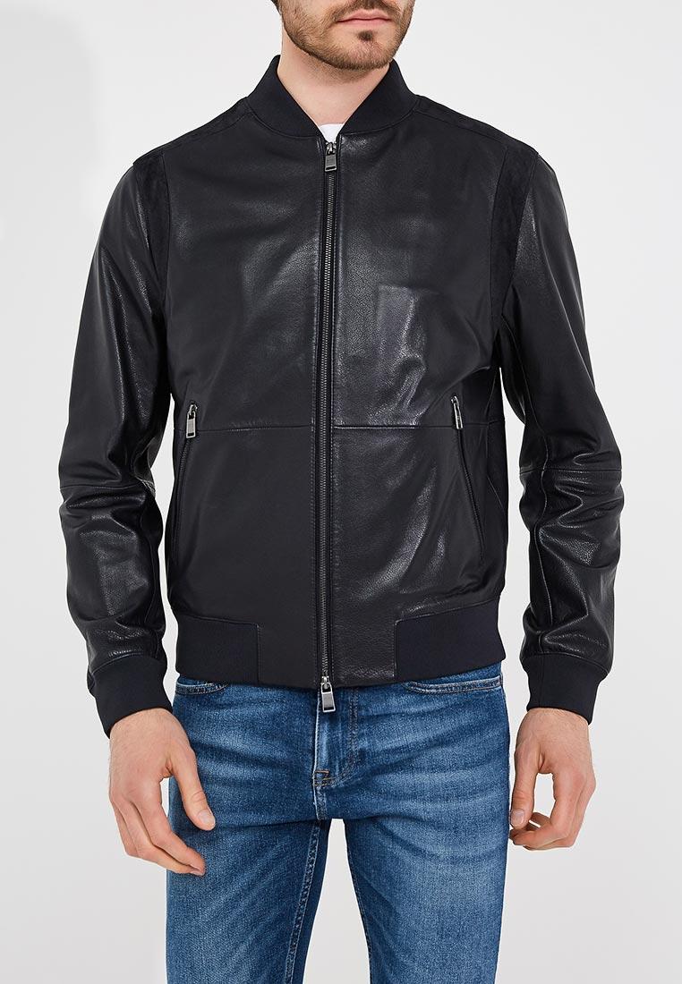 Кожаная куртка Boss Hugo Boss 50387434