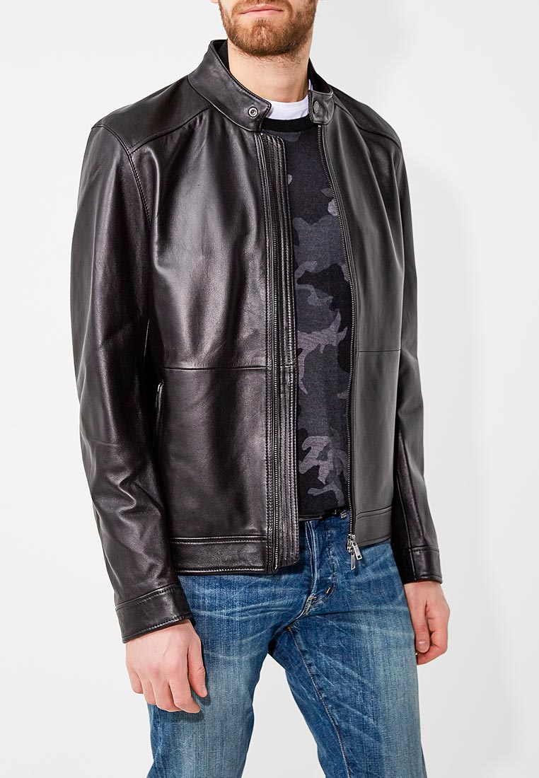Кожаная куртка Boss Hugo Boss 50378660