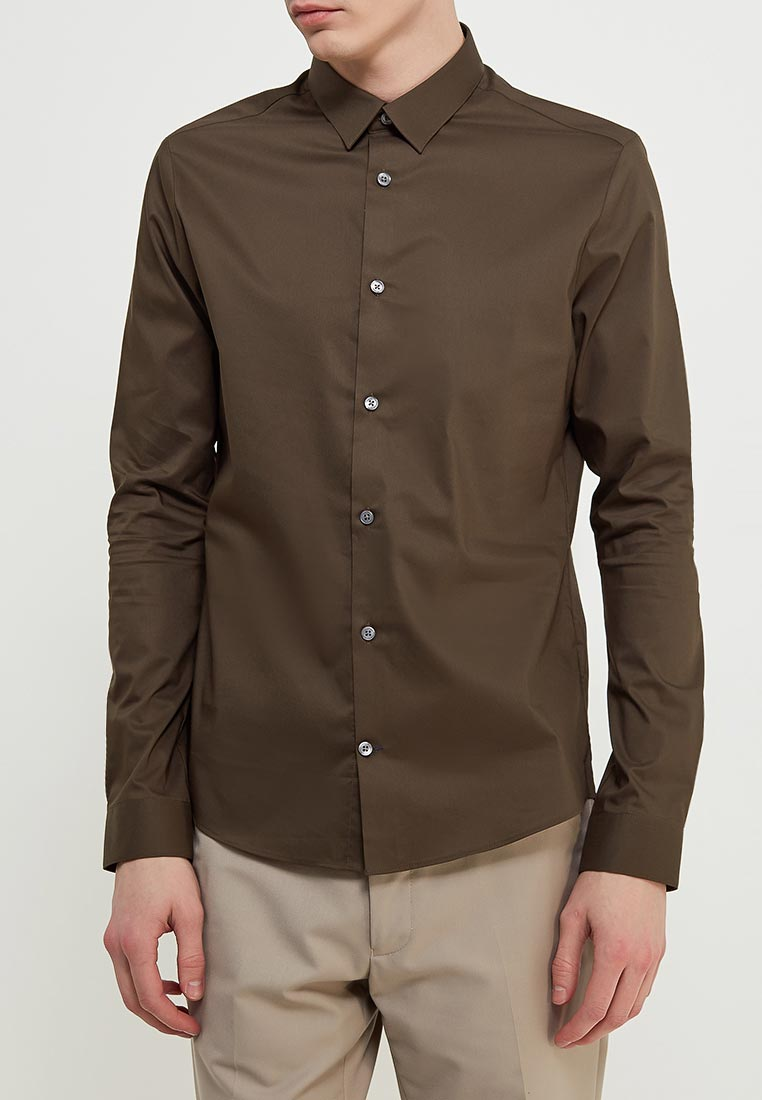 Рубашка с длинным рукавом Burton Menswear London 22S02LGRN