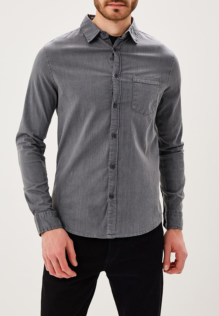 Рубашка с длинным рукавом Burton Menswear London 22D02MGRY