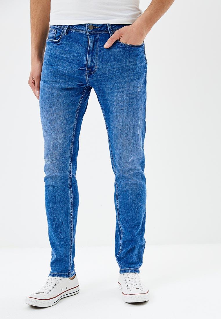 Зауженные джинсы Burton Menswear London 12A04MBLU