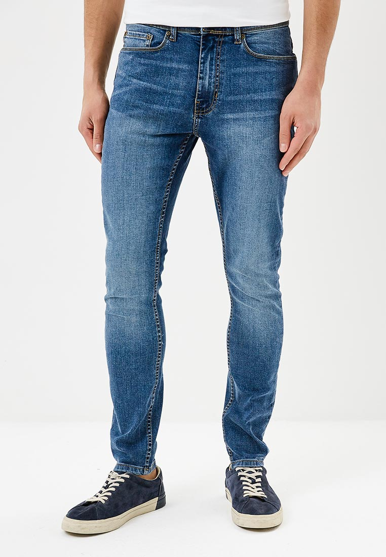 Зауженные джинсы Burton Menswear London 12K02MBLU