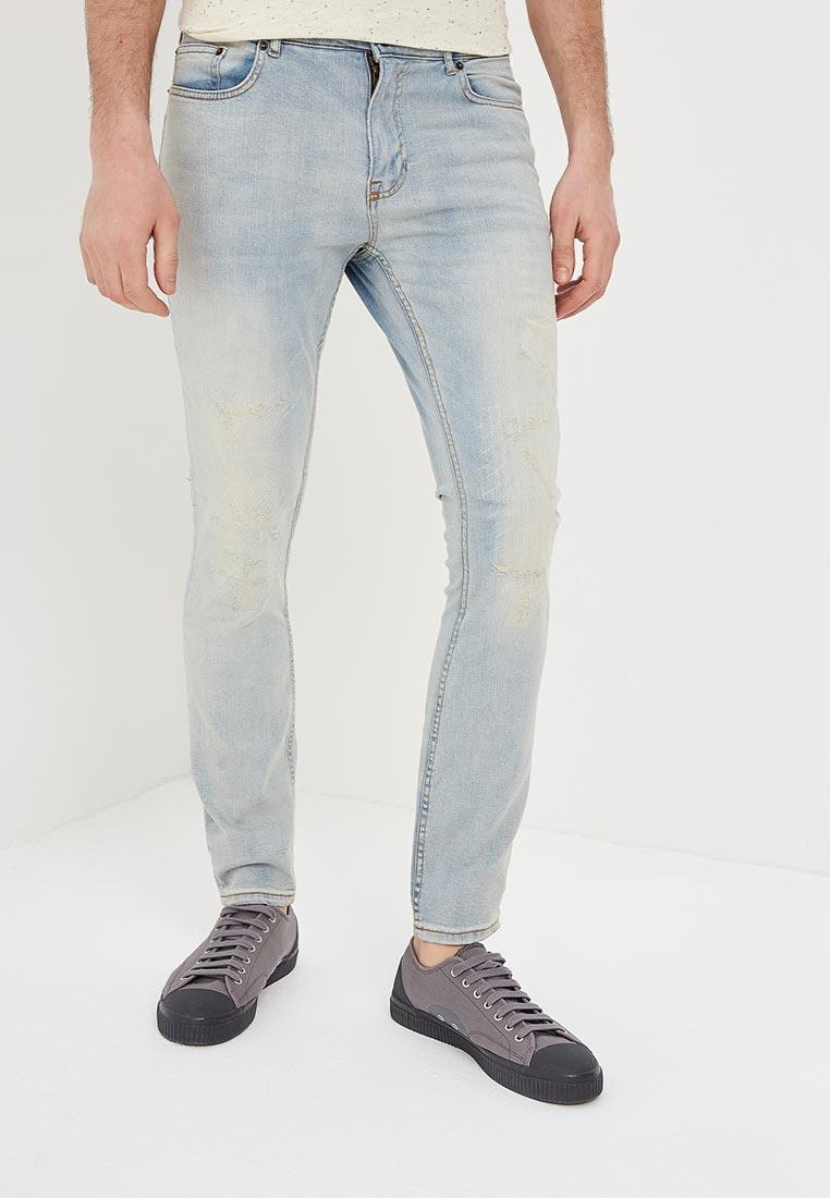 Зауженные джинсы Burton Menswear London 12K13MBLU