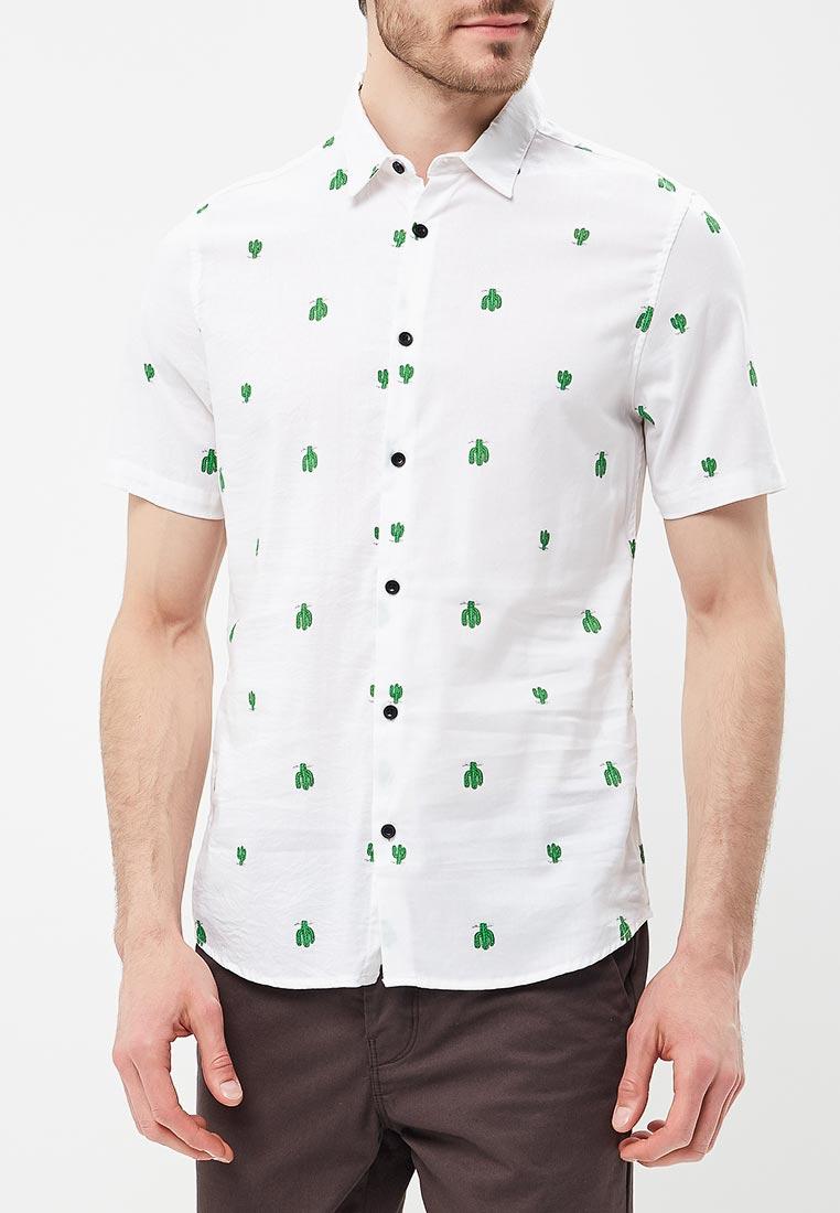 Рубашка с коротким рукавом Burton Menswear London 22P03MGRY