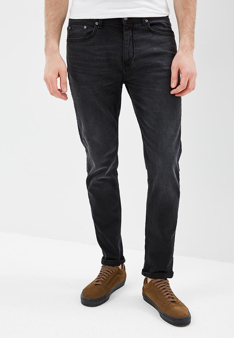 Мужские прямые джинсы Burton Menswear London 12A01MBLK
