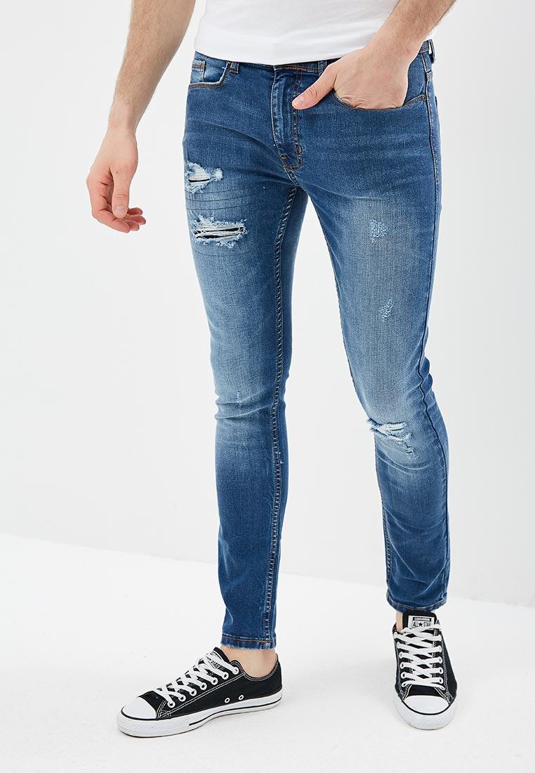 Мужские прямые джинсы Burton Menswear London 12S08MBLU